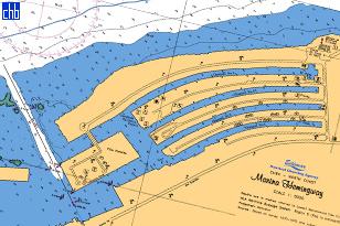 Marina Hemingway nautička karta