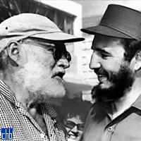 Ernest Hemingway i Fidel Castro