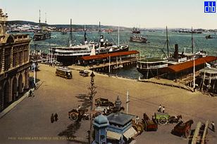 Armadores de Santander y Muelle Luz (Muelle de Luz en Francés) copia del 1904