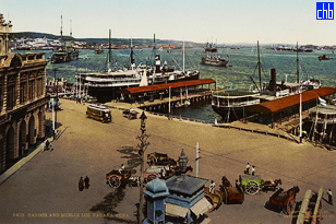 Armadores de Santander e Molo illuminato c.1904