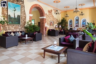 Lobby of the Hotel Encanto Barcelona, Remedios, Villa Clara