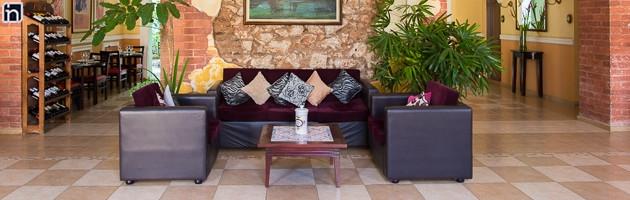 Lobby de entrada, Hotel Encanto Barcelona, Remedios, Villa Clara