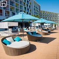 Ombrelloni alla terrazza del lobby bar, Hotel Iberostar Bella Vista