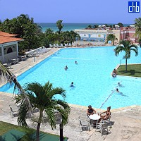 Breezes Hotel Pool Aerial View