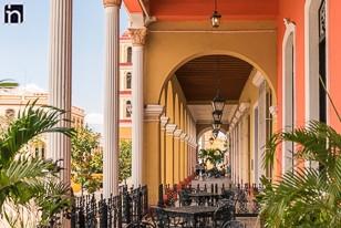 View from the Portal, Hotel Encanto Camino del Principe, Remedios, Villa Clara, Cuba