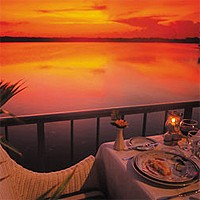 Вид на захід сонця з ресторану Мелія Кайо Коко