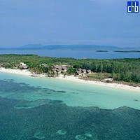 Aerial View Of Cayo Levisa