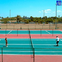Tennis Court At Gran Caribe Hotel