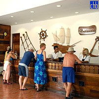 Recepcija hotela Gran Caribe Club Bucanero