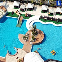 Aerial View Of The Melia Cohiba Pool