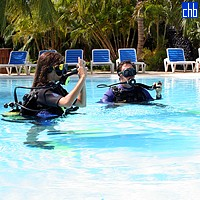 Diving Lesson At The Blau Colonial Hotel