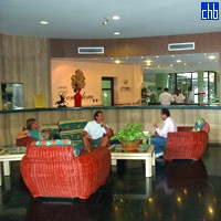 Recepción del Hotel Cubanacán Comodoro