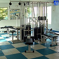 Gym Room At Cuatro Palmas Hotel