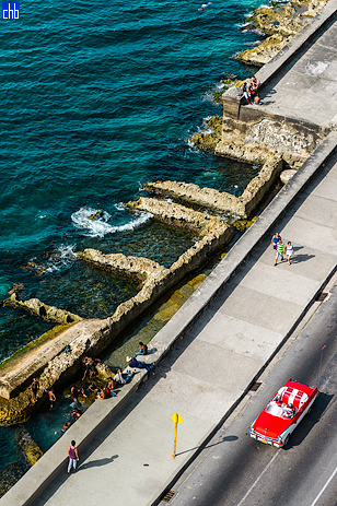 "Havana's Sea Front, ""El Malecon"" in front of Hotel Deaville"