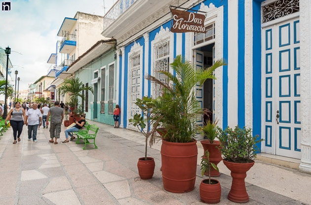 Facade of the Hotel Don Florencio at the Sancti Spiritus City Boulevard