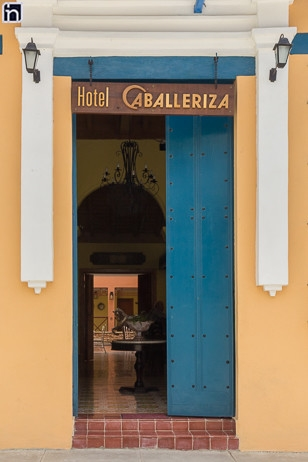 Entrance of the Hotel Encanto Caballeriza, Holguin, Cuba
