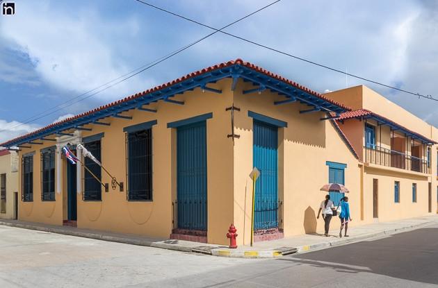 Facade of the Hotel Encanto Caballeriza, Holguin, Cuba
