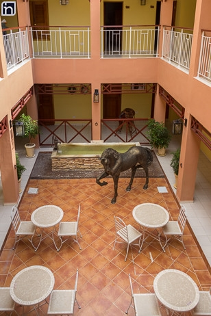 Interior Courtyard of the Hotel Encanto Caballeriza, Holguin, Cuba