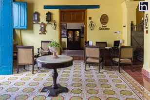 Lobby of the Hotel Encanto Caballeriza, Holguin, Cuba