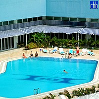 Pool At The Tryp Habana Libre Hotel