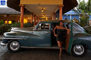 Auto Clásico Americano de los años 50, Taxi
