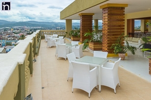 Terrace of the Hotel Encanto Imperial, Santiago de Cuba, Cuba