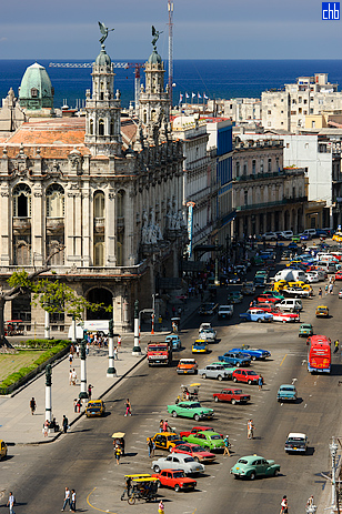 Paseo Marti, Teatro dell'Havana e Hotel Inglaterra