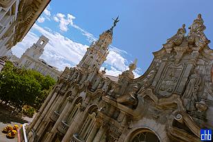 Widok z południowych pokoi Hotel Inglaterra, Gran Teatro de La Habana