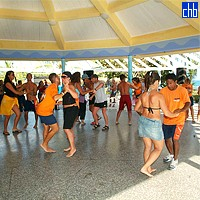 Lesson Of Dance At The Isla Del Sur Hotel
