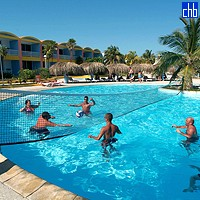 Volley Ball In The Isla Del Sur Hotel Pool
