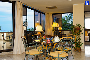 A Junior Suite Dinning Room at the Hotel Melia Las Americas