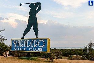 The Varadero Golf Club House and 1st Tee adjoins the Melia Las Americas Hotel