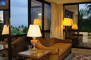 Igralište za Golf - pogled iz dnevne sobe Junior apartmana hotela Melia Las Americas