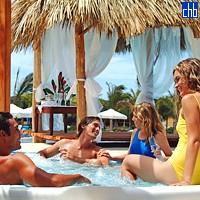 Jacuzzi en el Hotel Las Dunas