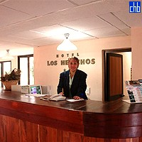Reception Desk At Los Helechos Hotel