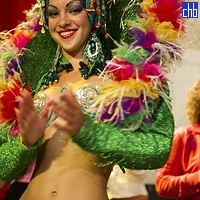 Smiling Cabaret Girl