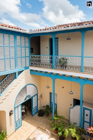 Interior Courtyard and First Floor, Hotel Encanto Mascotte, Remedios, Villa Clara, Cuba