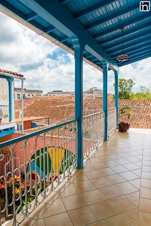First Floor Balcony of the Hotel Encanto Mascotte, Remedios, Villa Clara, Cuba