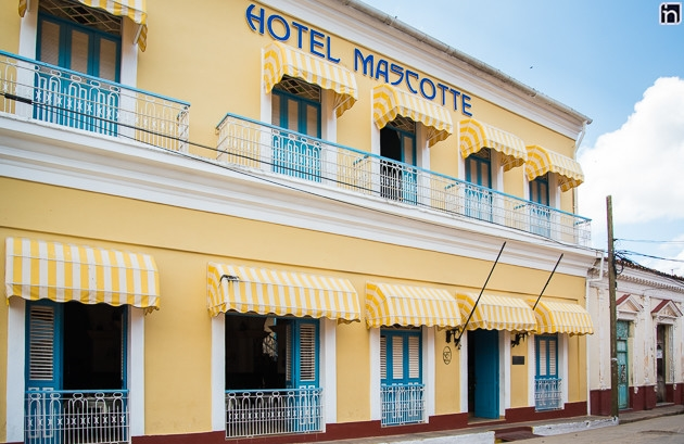 Facade of the Hotel Encanto Mascotte, Remedios, Villa Clara