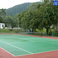 Tennis Court at Hotel Moka