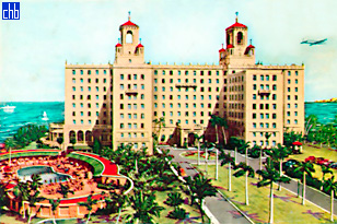 Открытка с видом отеля Националь дэ Куба в 1955