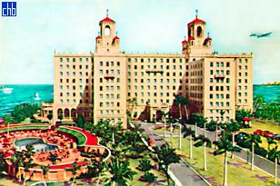 Razglednica hotela Nacional de Cuba iz 1955