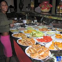 Pequeno almoco buffet do Hotel Nacional de Cuba