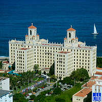 Nacional Hotel seen from Havana Libre Hotel in December 2002