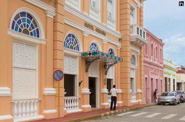 Hotelfassade des Hotels Encanto Ordono, Gibara, Holguin