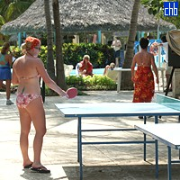 Table Tennis At Sol Palmeras Hotel