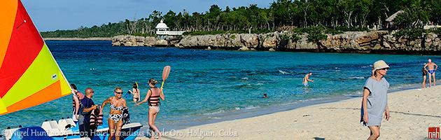 Plaža hotela Paradisus Rio de Oro, Holguin, Kuba
