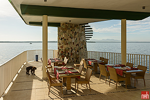 "The Refreshing ""Open Deck"" Restaurant of the Hotel Perla del Mar"