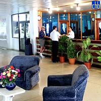 Reception all'Hotel Pernik, Holguin, Cuba
