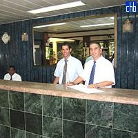 Стойка регистрации в отеле Пинар дэль Рио